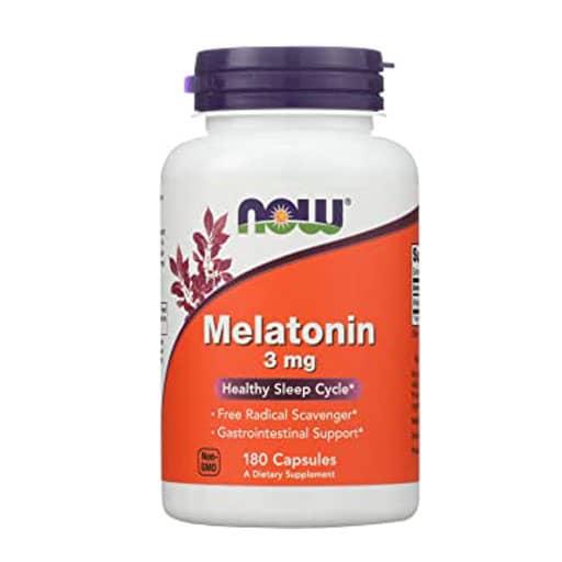 NOW Melatonin, 3mg, 180 Veg Caps