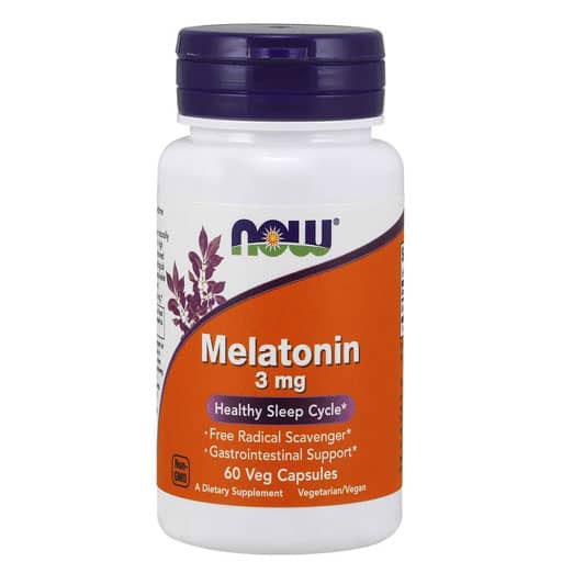NOW Melatonin, 3mg, 60 Veg Caps