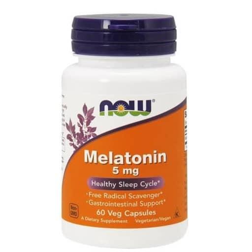 NOW Melatonin, 5mg, 60 Veg Caps