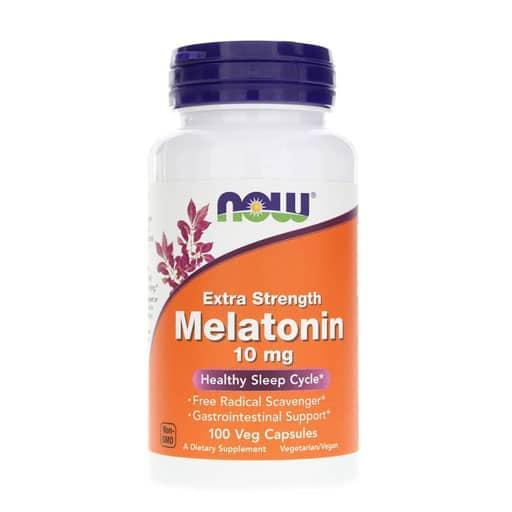 NOW Melatonin, Extra Strength, 10mg, 100 Veg Caps