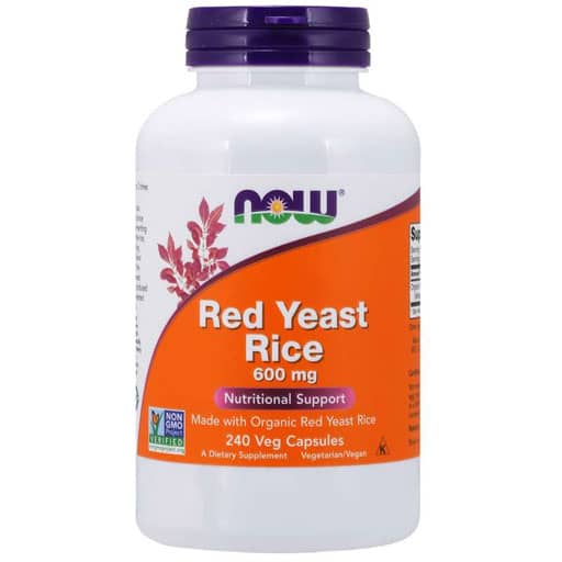 Red Yeast Rice By NOW, 600 mg, 240 Veg Caps