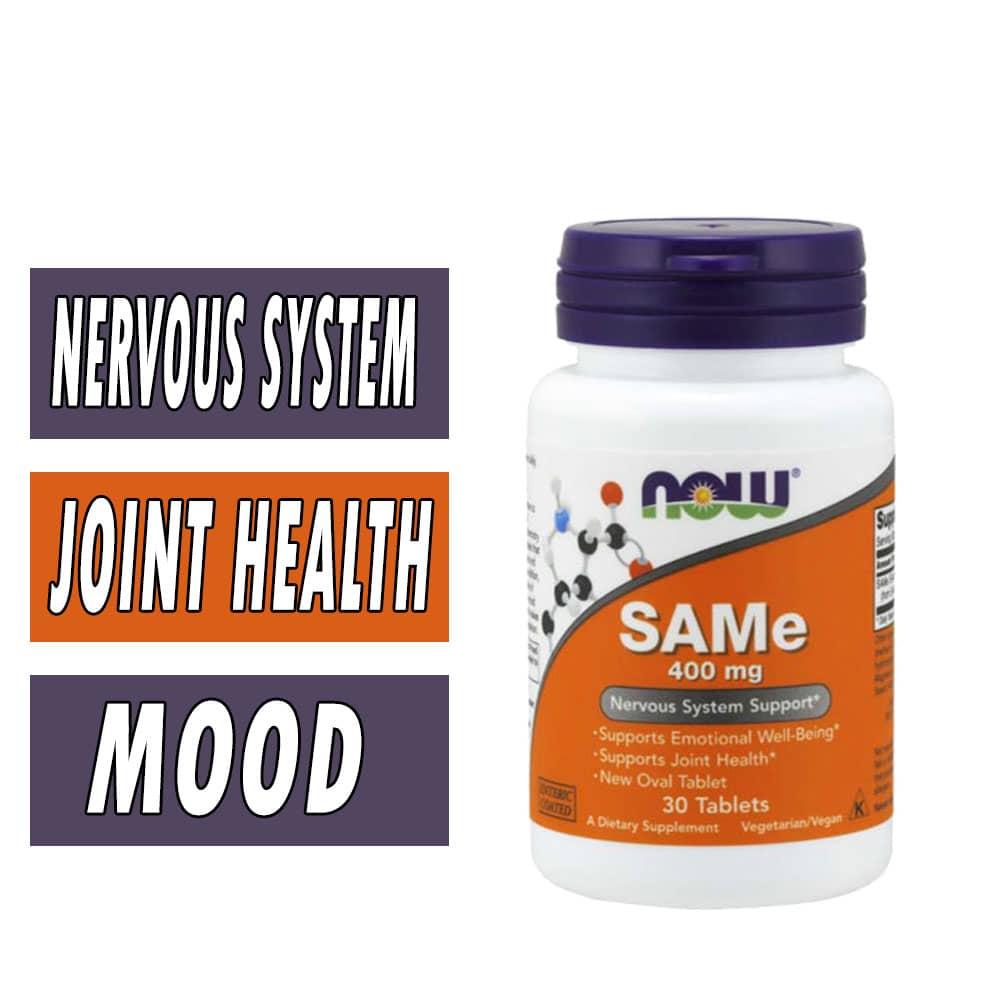 NOW, SAMe, 400 mg, 30 Tablets,