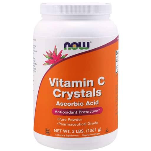 NOW, Vitamin C Crystals, Ascorbic Acid Powder, 3lb