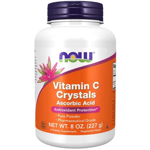 NOW Vitamin C Crystals - Ascorbic Acid - 8 oz