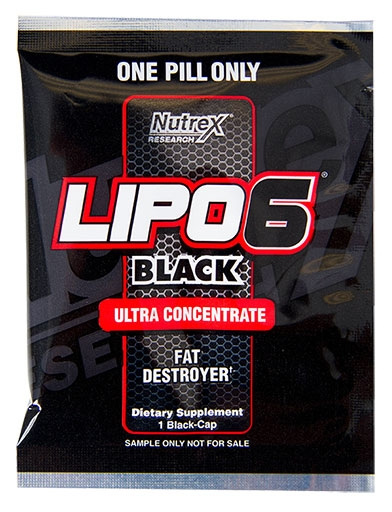 Lipo 6 Black Ultra Concentrate By Nutrex, Sample Pack