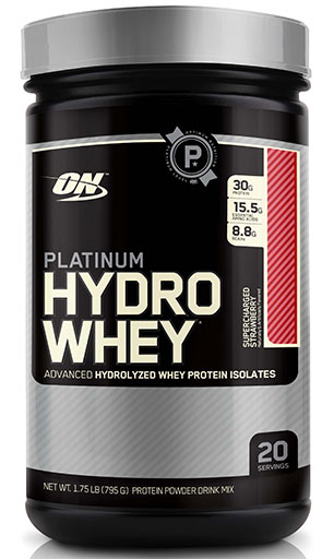 Hydro Whey Protein By Optimum Nutrition, Strawberry 1.75lb