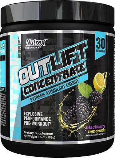 Outlift Concentrate By Nutrex, Blackberry Lemonade, 30 Servings