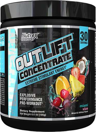 Outlift Concentrate By Nutrex, Miami Vice, 30 Servings