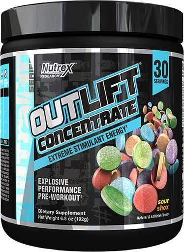 Outlift Concentrate By Nutrex, Sour Shox, 30 Servings
