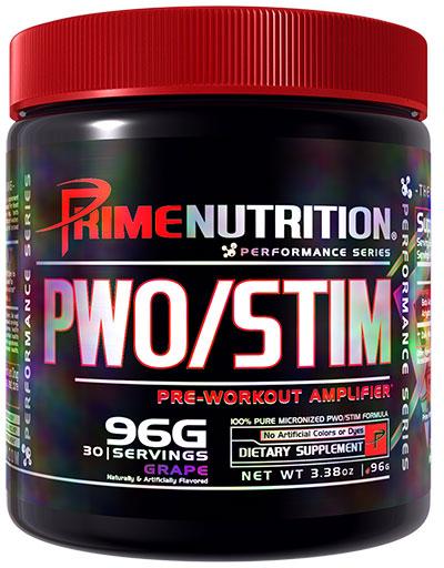 PWO/Stim By Prime Nutrition, Grape, 30 Servings