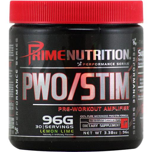 PWO/Stim By Prime Nutrition, Lemon Lime, 30 Servings