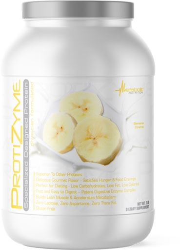 Protizyme Protein by Metabolic Nutrition, Banana Cream 2lb