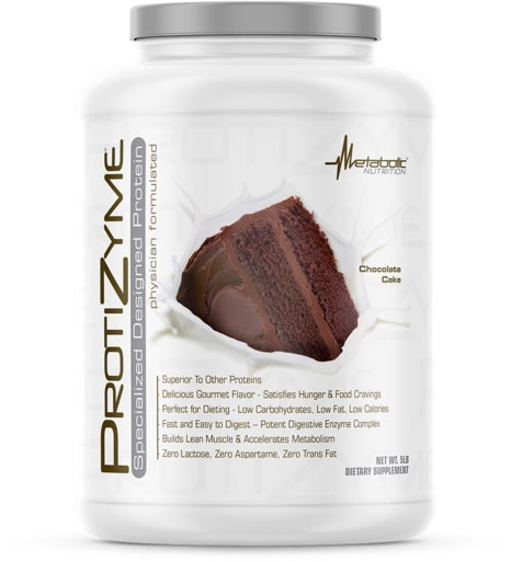Protizyme Protein by Metabolic Nutrition, Chocolate Cake 5lb