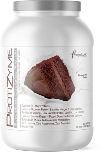 Protizyme Protein by Metabolic Nutrition, Chocolate Cake 2lb