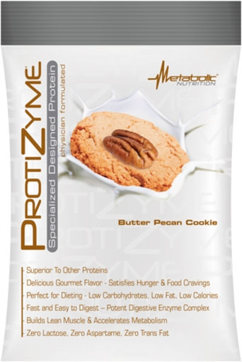 Protizyme Protein By Metabolic Nutrition, Butter Pecan Cookie, Sample Packet
