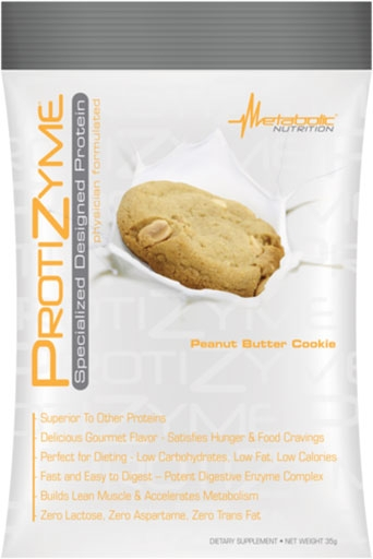 Protizyme Protein By Metabolic Nutrition, Peanut Butter Cookie, Sample Packet