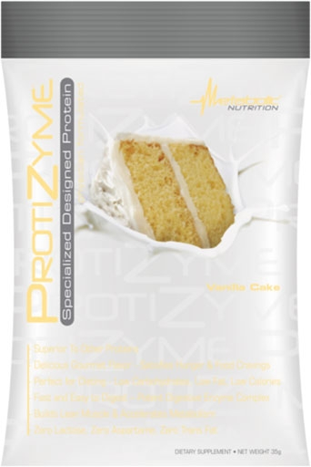 Protizyme Protein By Metabolic Nutrition, Vanilla Cake, Sample Packet