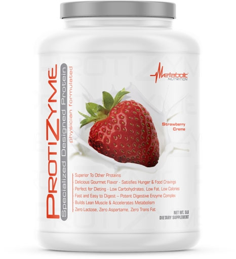 Protizyme Protein by Metabolic Nutrition, Strawberry Creme 5lb