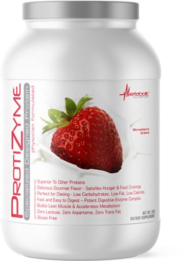 Protizyme Protein by Metabolic Nutrition, Strawberry Creme 2lb