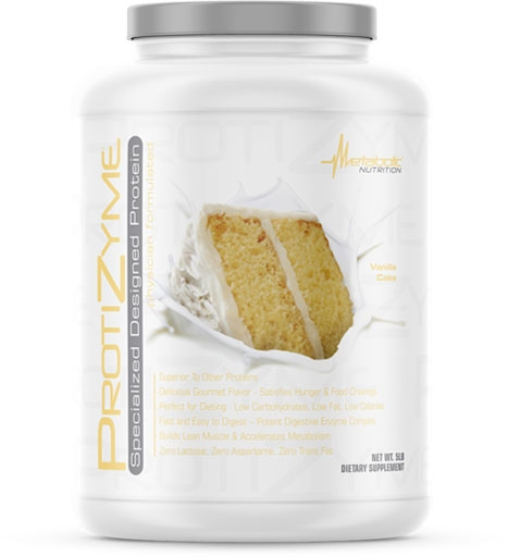 Protizyme Protein by Metabolic Nutrition, Vanilla Cake 5lb