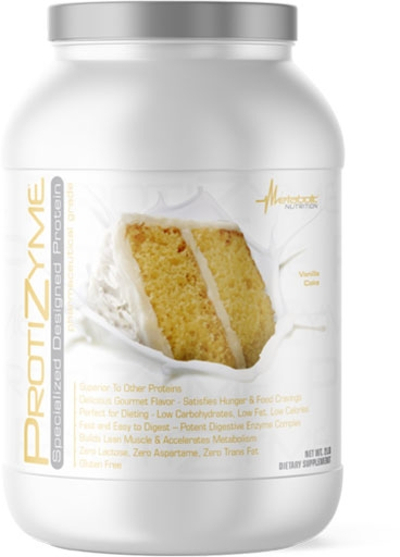 Protizyme Protein by Metabolic Nutrition, Vanilla Cake 2lb