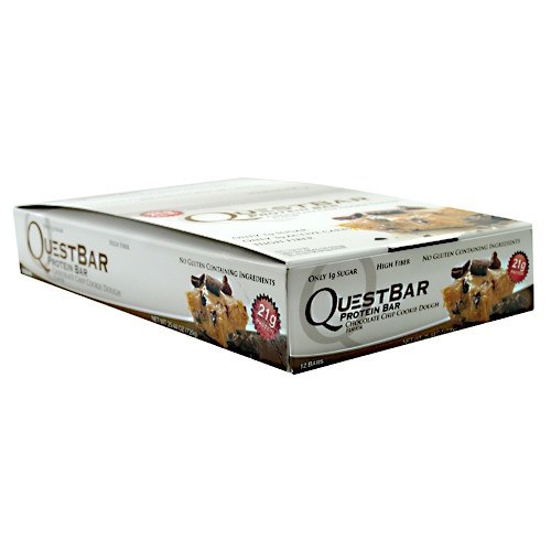 Quest Bars, Chocolate Chip Cookie Dough 12/Box by Quest Nutrition
