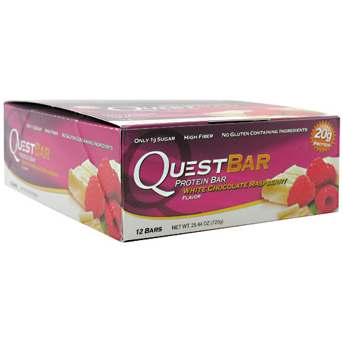 Quest Bars, White Chocolate Raspberry 12/Box by Quest Nutrition