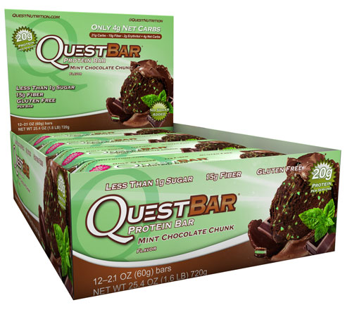 Quest Bars, Mint Chocolate Chunk 12/Box By Quest Nutrition