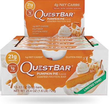 Quest Bars, Pumpkin Pie, 12/Box, By Quest Nutrition,
