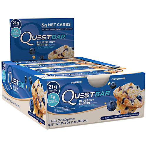 Quest Bars, Blueberry Muffin, 12/Box, By Quest Nutrition,