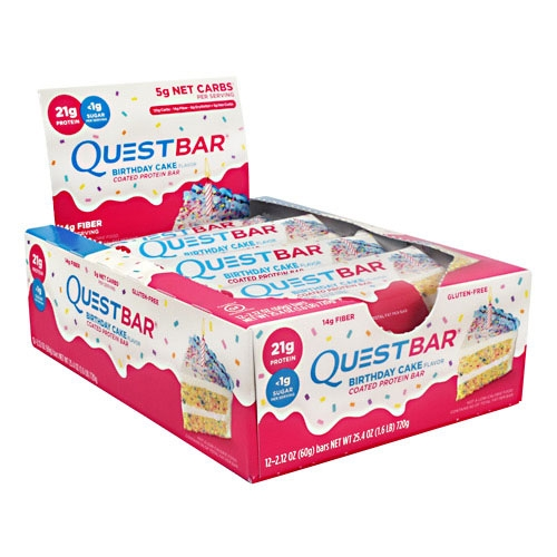 Quest Bars, Birthday Cake, 12/Box, By Quest Nutrition,