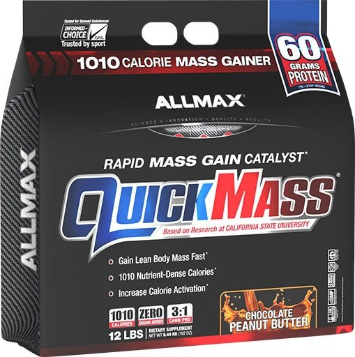 QuickMass Loaded, By Allmax Nutrition, Chocolate Peanut Butter, 12lb