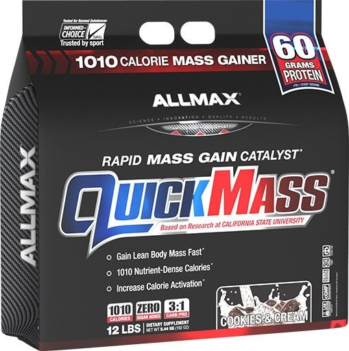 QuickMass by Allmax Nutrition, Cookies and Cream, 12lb Bag