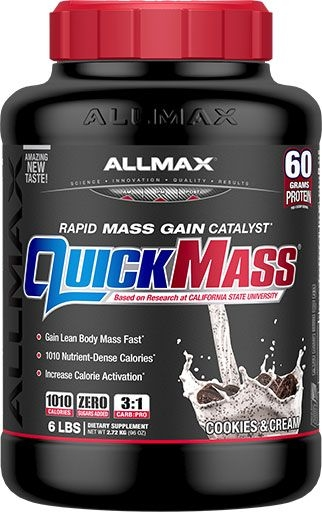 AllMax Nutrition QuickMass Loaded Cookies & Cream 6lb