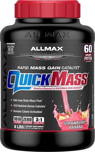 Quickmass By Allmax Nutrition, Strawberry Banana, 6lb
