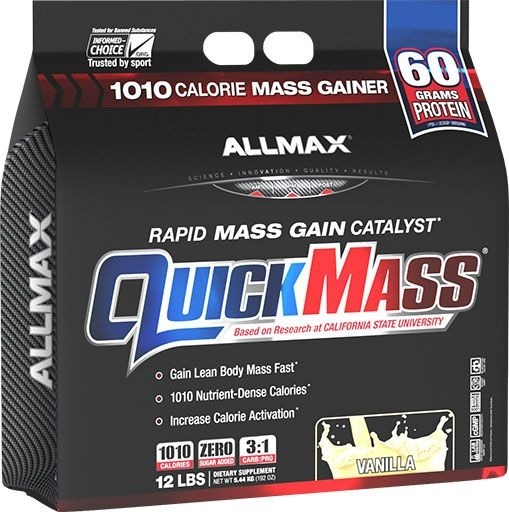 QuickMass by Allmax Nutrition, Vanilla, 12lb Bag