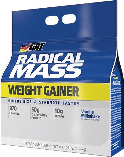 Radical Mass By GAT, Vanilla Milkshake, 10lb Bag
