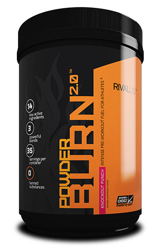 Powder Burn 2.0, By RIVALUS, Pre-Workout, Punch, 35 Servings,