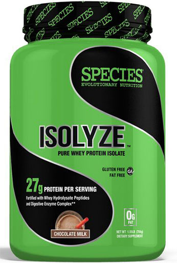Isolyze, Protein, By Species Nutrition, Chocolate Milk, 22 Servings