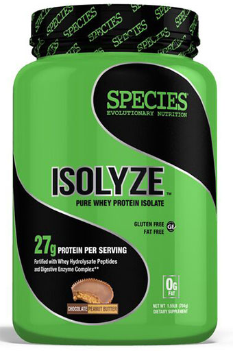 Isolyze, Protein, By Species Nutrition, Chocolate Peanut Butter, 22 Servings