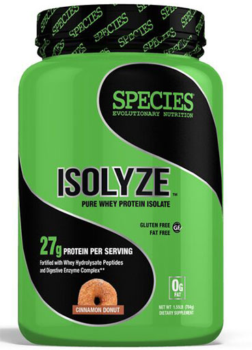 Isolyze, Protein, By Species Nutrition, Cinnamon Donut, 22 Servings