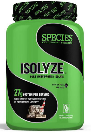 Isolyze, Protein, By Species Nutrition, Cookies and Cream, 22 Servings