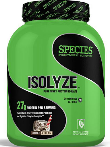 Isolyze, Protein, By Species Nutrition, Cookies and Cream, 44 Servings