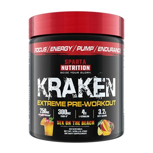 Kraken Pre Workout By Sparta Nutrition, Sex on the Beach, 40 Servings