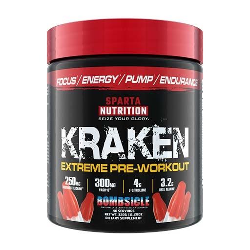 Kraken Pre Workout By Sparta Nutrition, Bombsicle, 40 Servings