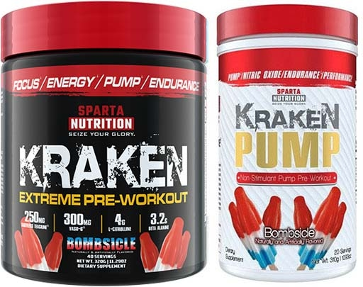 Sparta Nutrition Pre Workout Stack, Bombsicle