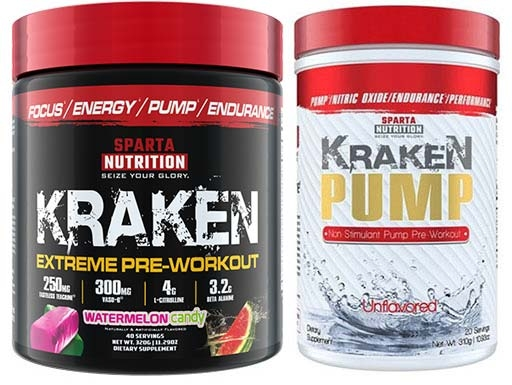 Sparta Nutrition Pre Workout Stack, Watermelon Rancher and Unflavored