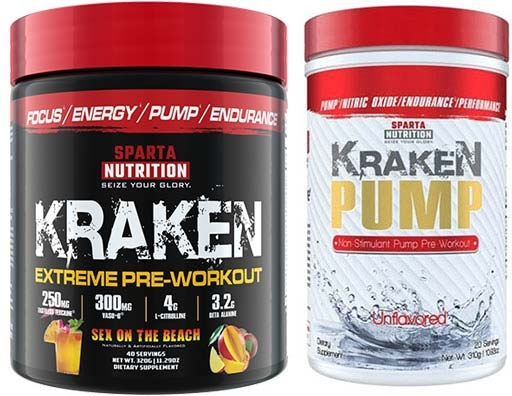 Sparta Nutrition Pre Workout Stack, Sex on the Beach and Unflavored
