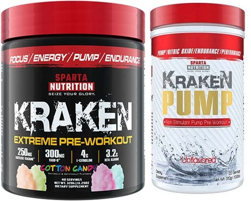 Sparta Nutrition Pre Workout Stack, Cotton Candy and Unflavored