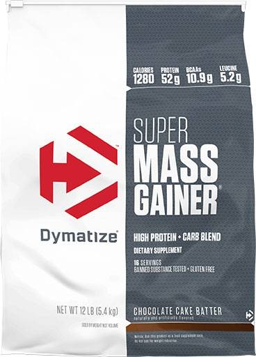 Super Mass Gainer By Dymatize Nutrition, Chocolate Cake Batter, 12lb